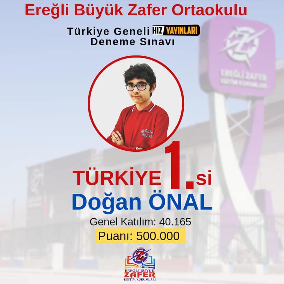 Türkiye 1.Özel Ereğli Büyük Zafer Ortaokulundan